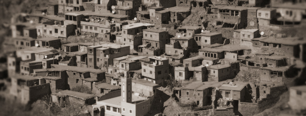 The village of Taddert in the Atlas mountains of Morocco, visited by Orwell