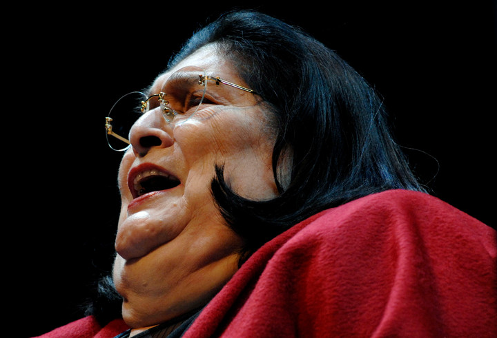 The late Argentinian diva Mercedes Sosa on her last European tour