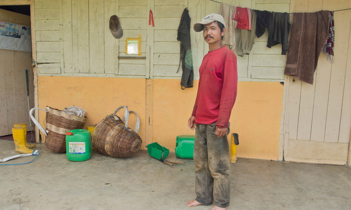 Nepalese migrant worker at a tea plantation in Malaysia