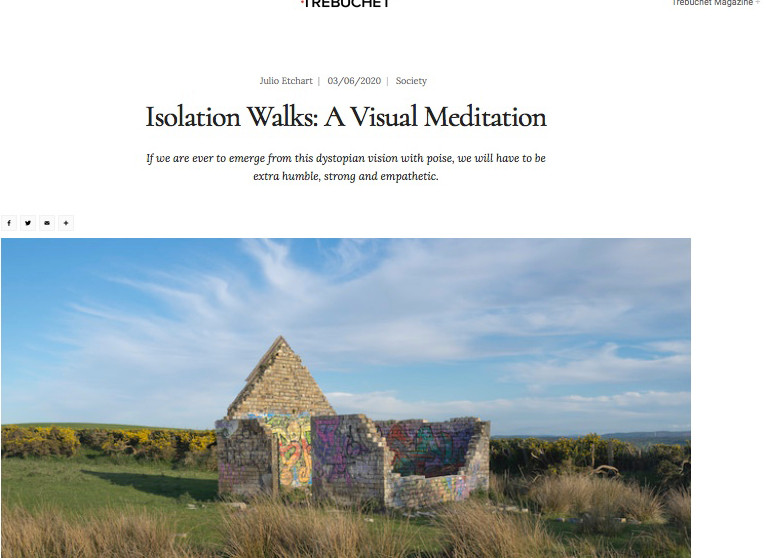 Isolation walks in Trebuchet Magazine