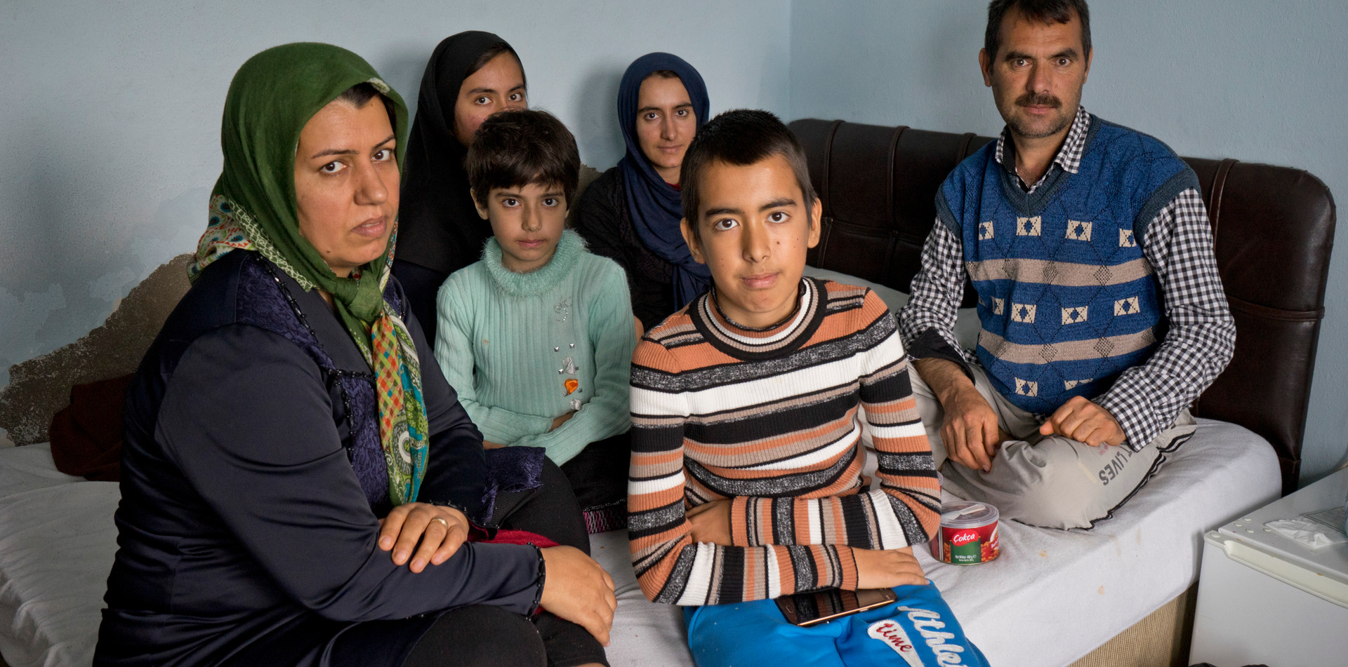 Refugee family from Afghanistan in Turkey
