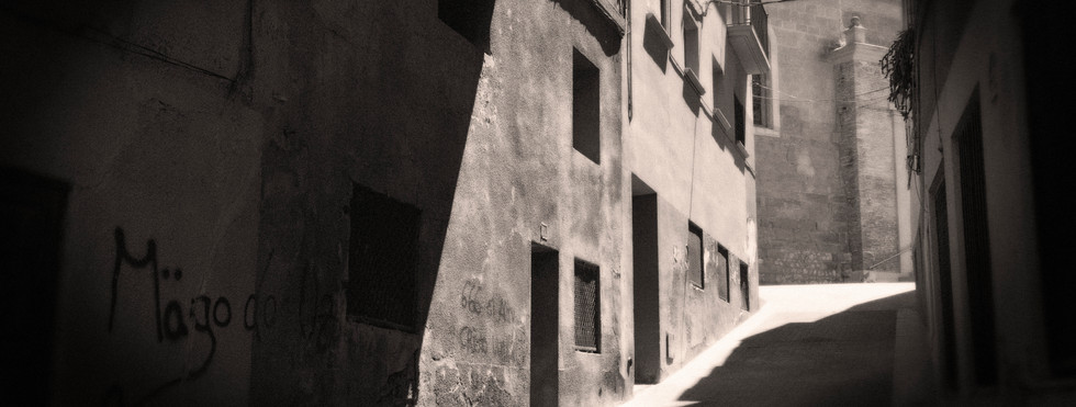 The old town of Alcubierre in Aragon, visited and mentioned by Orwell in 'Homage to Catalonia'