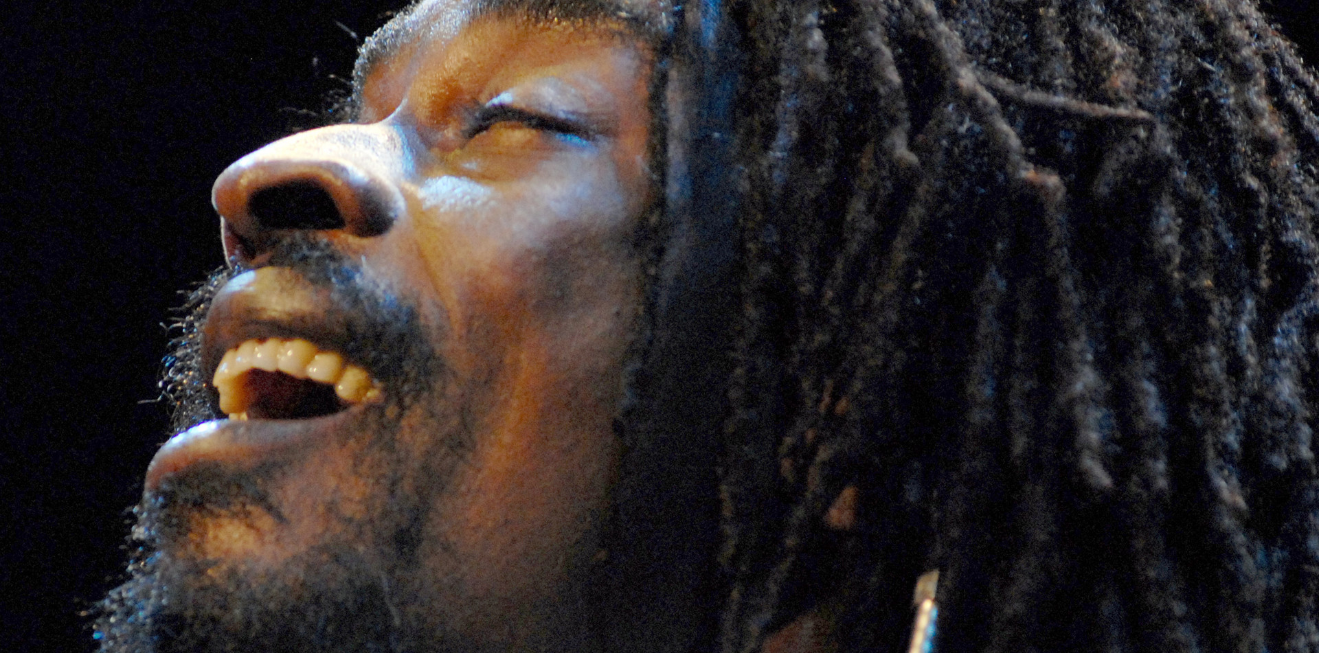Singer Seu Jorge, from 'City of God' fame, performing in Rio, Brazil