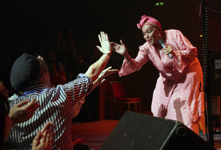 The legendary Omara Portuondo, of Buena Vista Social Club fame, at the Royal Albert Hall in London