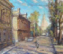 103. Утренняя Москва 59х50, 2011,х.,м.JP