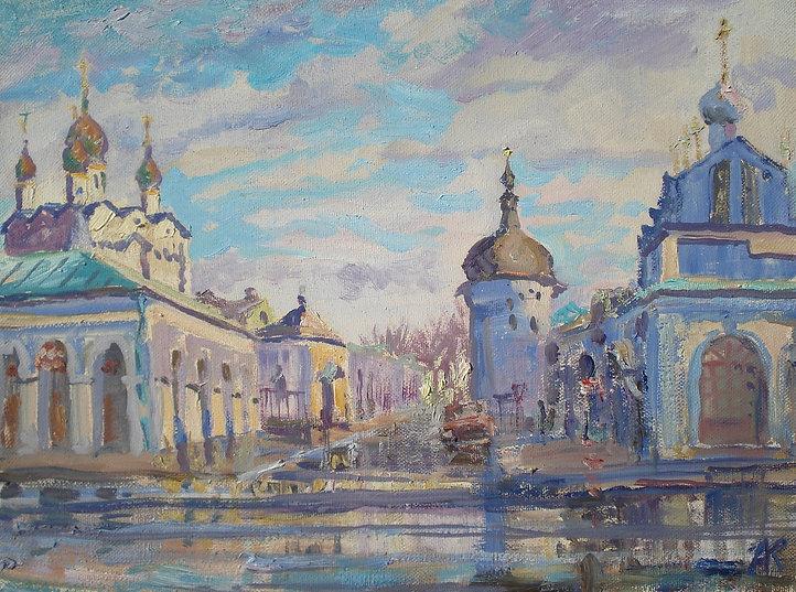348. Теплая зима в Ростове Великом 30х40