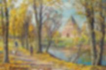 289. Осень в Измайлово 40х60,  х.,м., 20