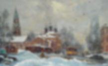 302. Вид на Преображенский вал 40х65,х.,