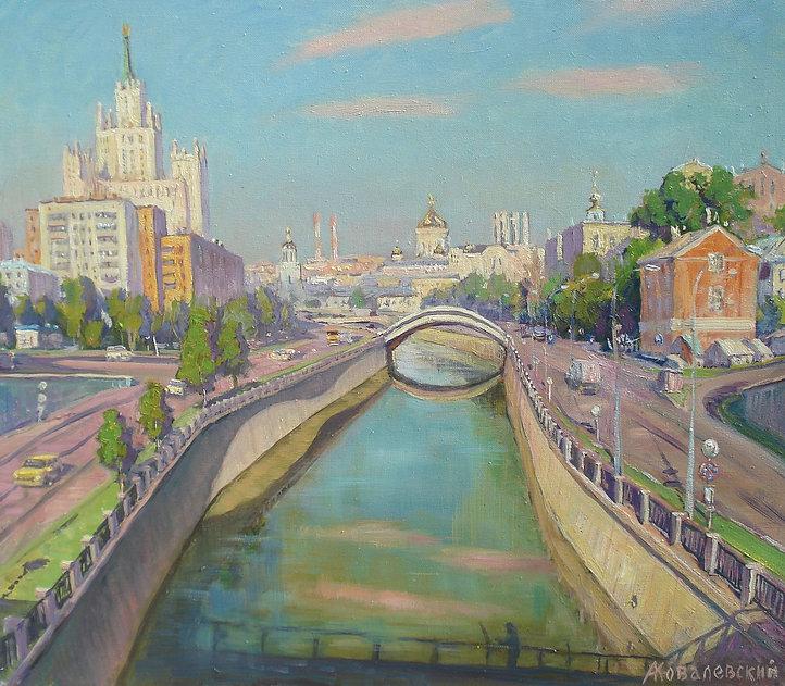 358. Раннее утро в Москве. Июнь 60х70, х