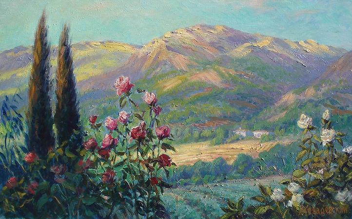 387. Крымские горы. Утро 50х80, х.,м., 2