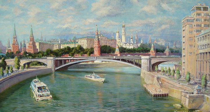 360. Вид с Патриаршего моста на Кремль 6