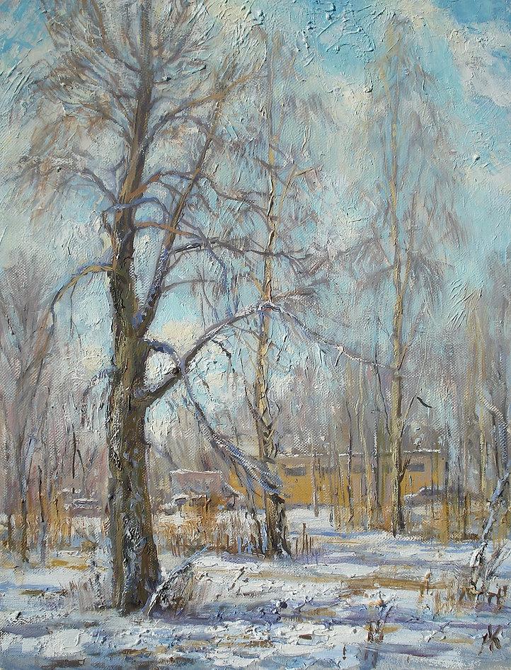59. Теплая зима в Павлино. 45х35, х.,м.,
