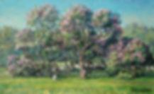 314. Сирень цветёт 40х65, х.,м., 2019.jp