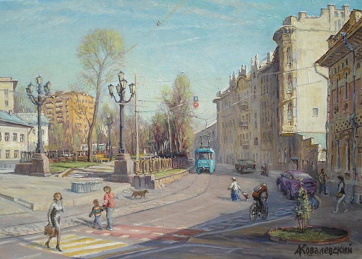 351. Яузский бульвар 50х70, х.,м., 2020.