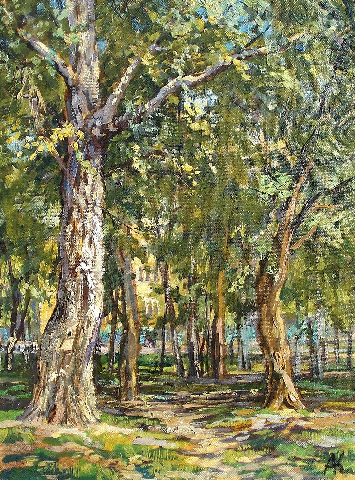 338. Деревья в Павлино 40х30, х.,м., 201