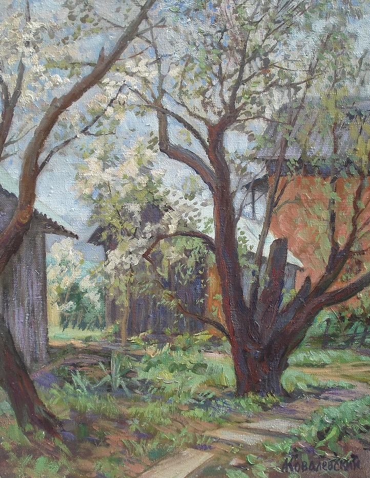 90. Старые вишни в Подольске 50х40, х.,м