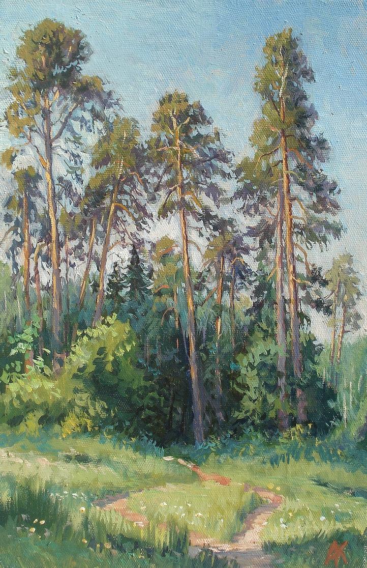 394. Сосны в Измайловском лесу 45х30, х.м., 2021.jpg