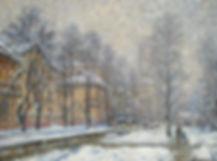 300. Снегопад на 12-й Парковой 60х80,х.,