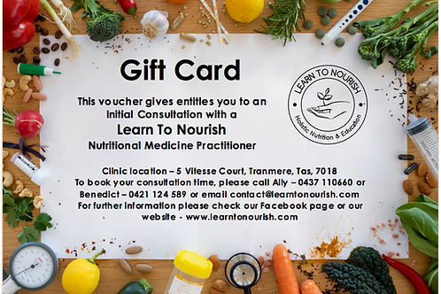 Learn To Nourish Inital Consulation Voucher