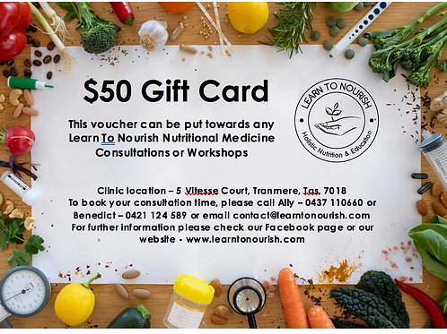 Custom Learn To Nourish Voucher