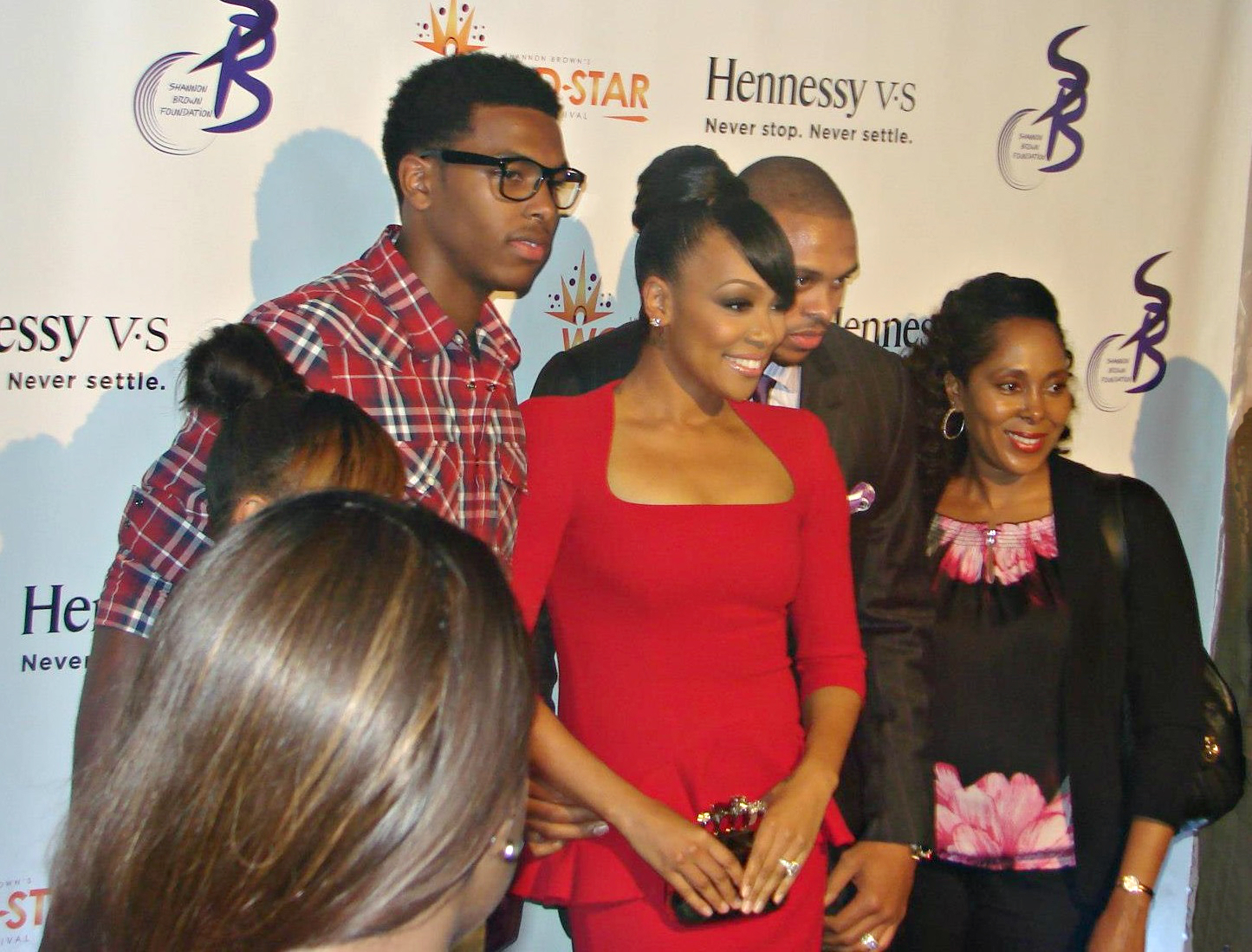 On the red carpet with family