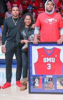 My sons and I celebrating SMU win