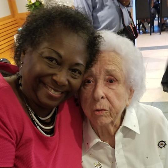 Gloria Barton & 90th birthday of Patricia Manning