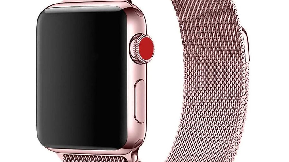 Milano Loop Apple Watch Band : Rose Gold