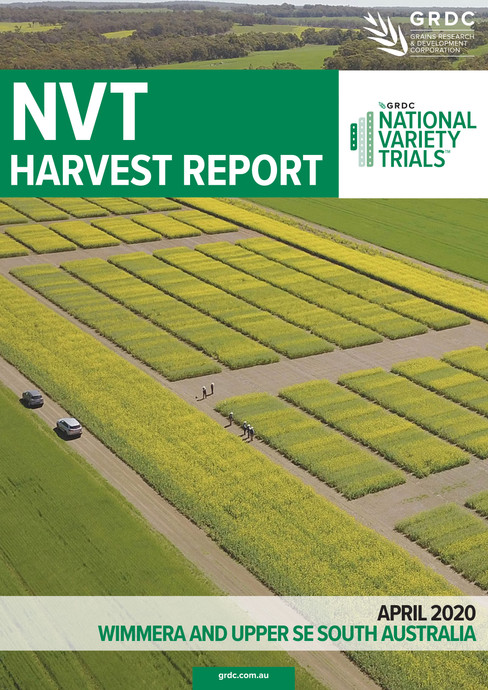 NVT Harvest-Reports, produced annually for the GRDC