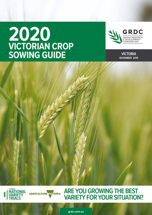 GRDC SowingGuide Victoria Client: GRDC