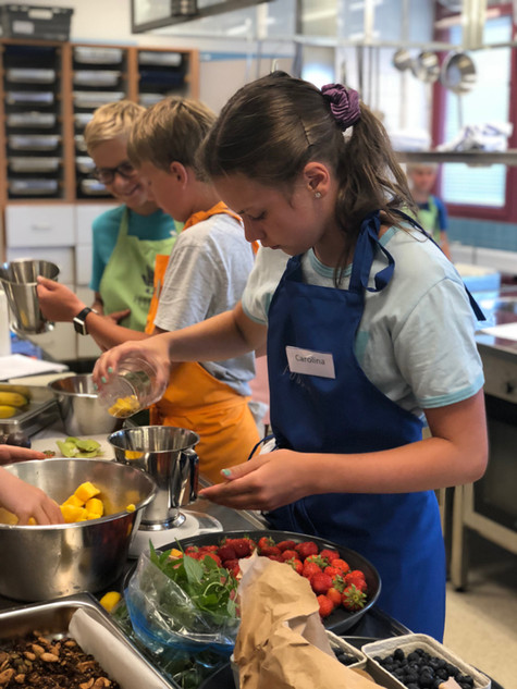 Smarriga och nyttiga mellanmål på FoodFives kurser
