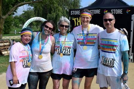 AP Color Run Participants