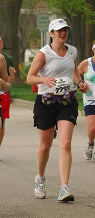 OB/GYN, Dr. Laura Berghahn running in a marathon.