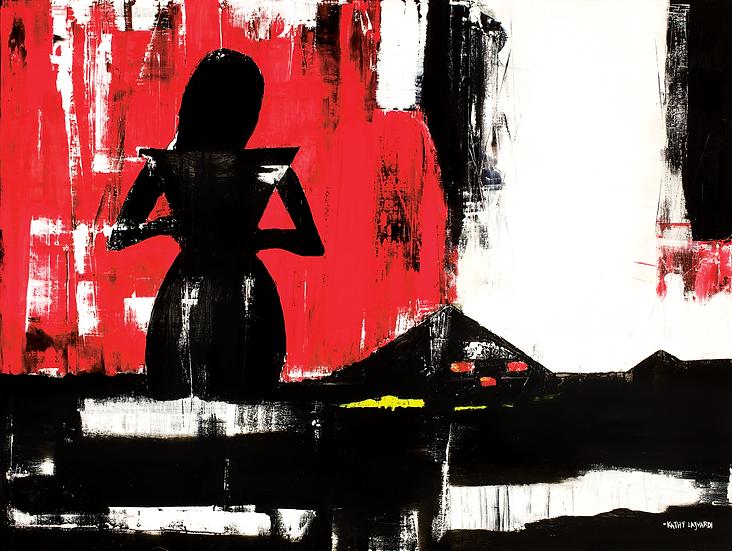 """Flashing Lights"" Oil on Canvas"