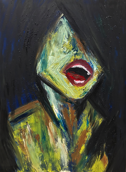 """Scream"" oil on canvas"