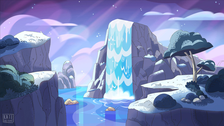 Background design & paint in Steven Universe style