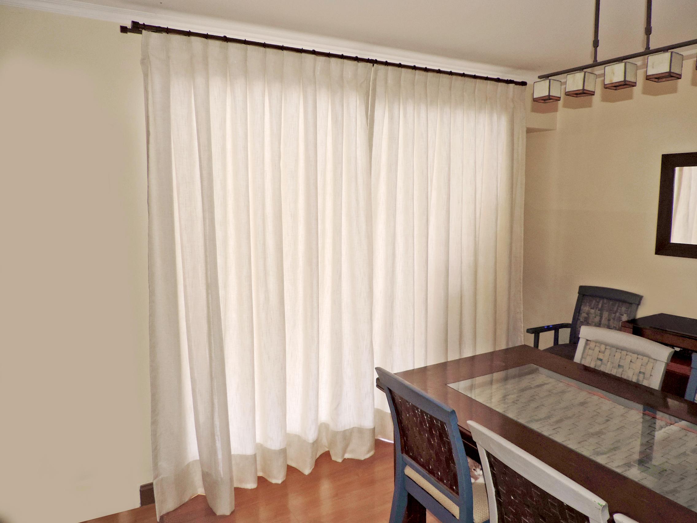 cortina gasa rustica