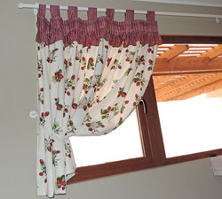 cortina cocina frutillas
