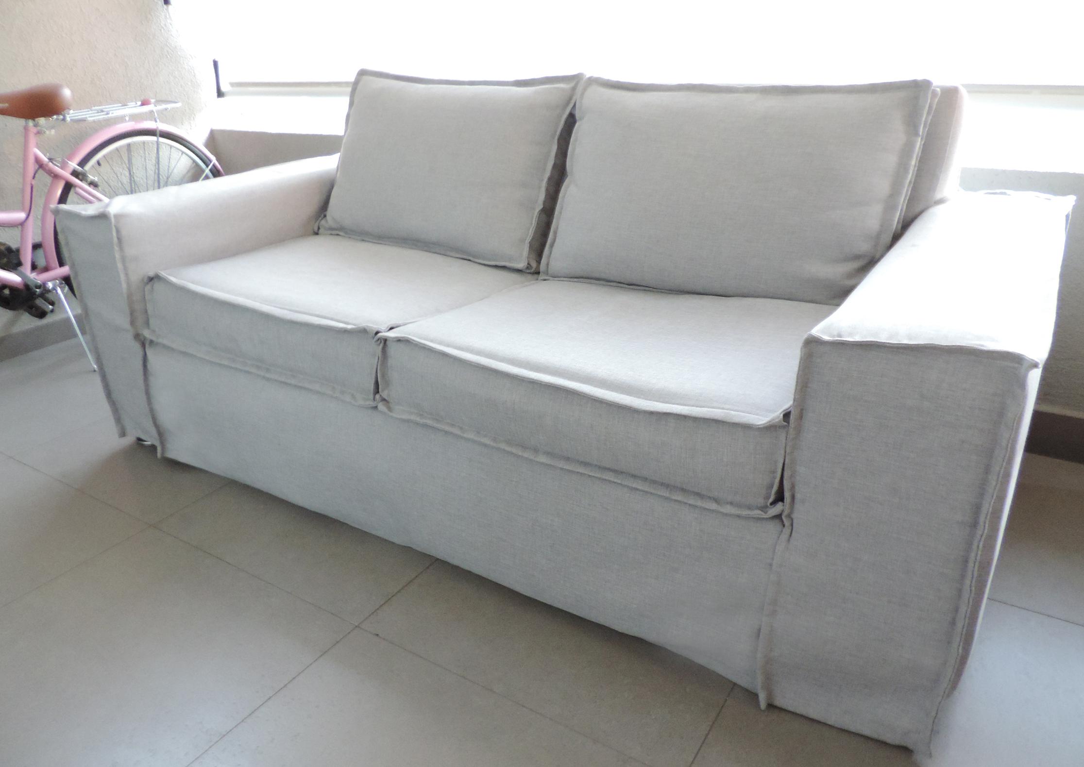 funda sofa gris claro