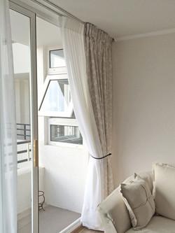cortina visillo y tela diseño