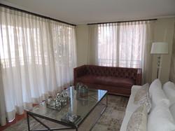 cortina visillo textura lino