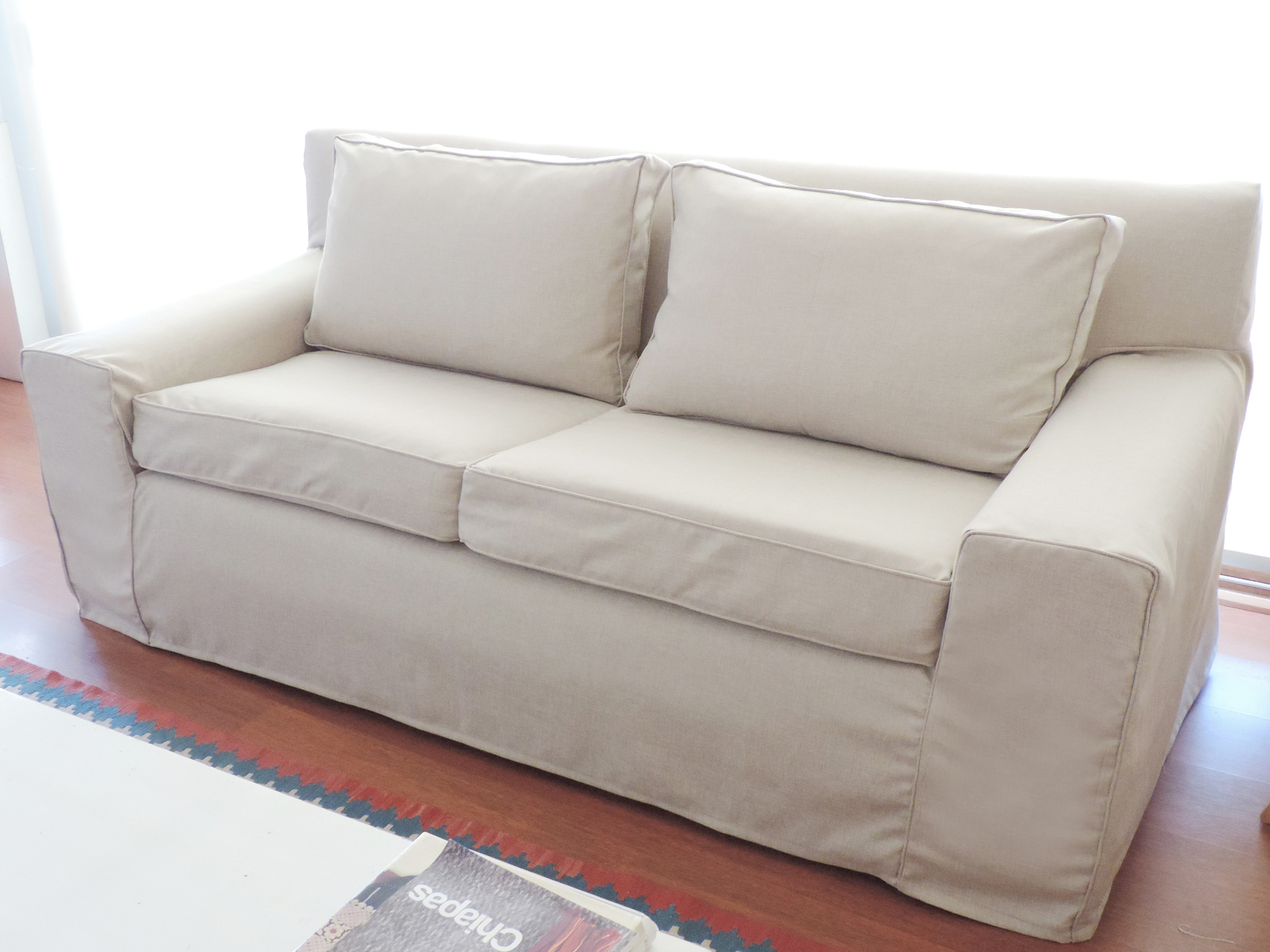 funda sofa crudo