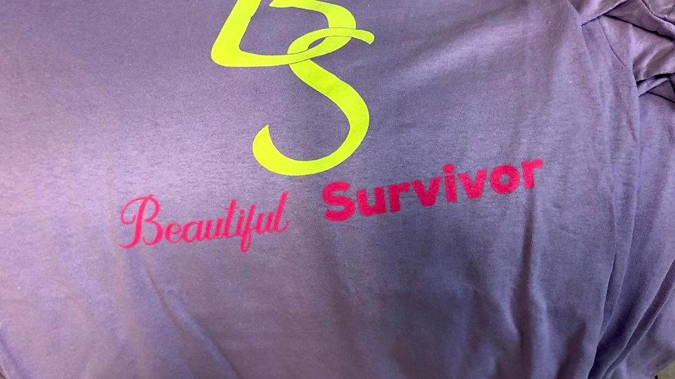 Beautiful Survivor Neon Logo Tee
