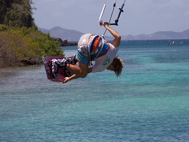 Kiteboarding advanced tricks board grab