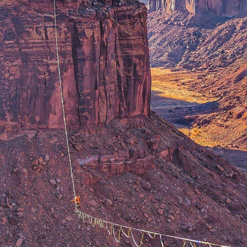 USA  Higline Record 1 Kilometer Long Highline