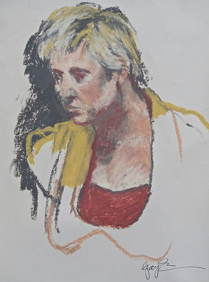 Girl in a Yellow Dress by Gay Emmerson
