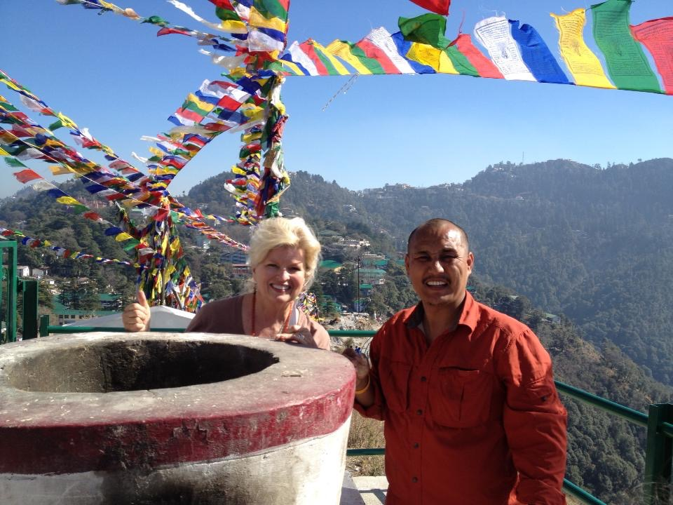 SrSonnee_With Lama Tenzin hanging prayer