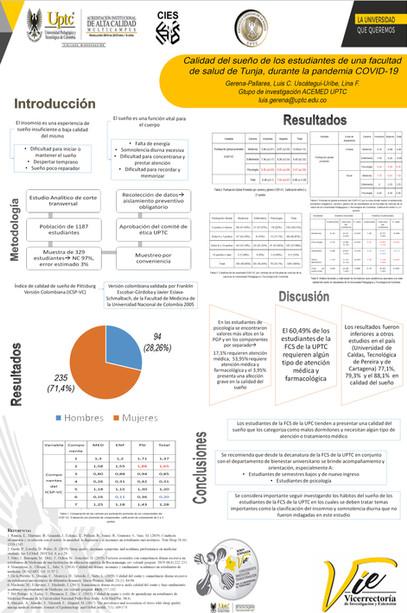Calidad del sueño de los estudiantes de una facultad de salud de Tunja, durante la pandemia COVID-19