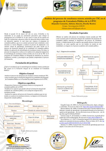Análisis del proceso de enseñanza remota asistida por TIC en el programa de contaduría pública de la UPTC