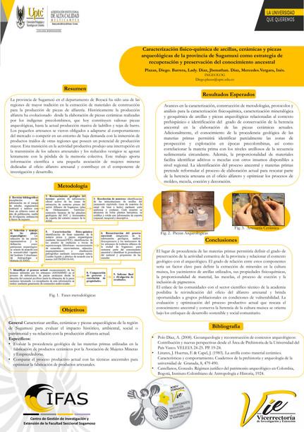 Caracterización fisico-química de arcillas, cerámicas y piezas arqueológicas de la provincia de Sugamuxi como estrategia de recuperación y preservacion del conocimiento ancestral